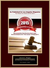 Top Lawyers of Southern California 2015 | Southern California's Top Lawyers | Jerome L. Ringler